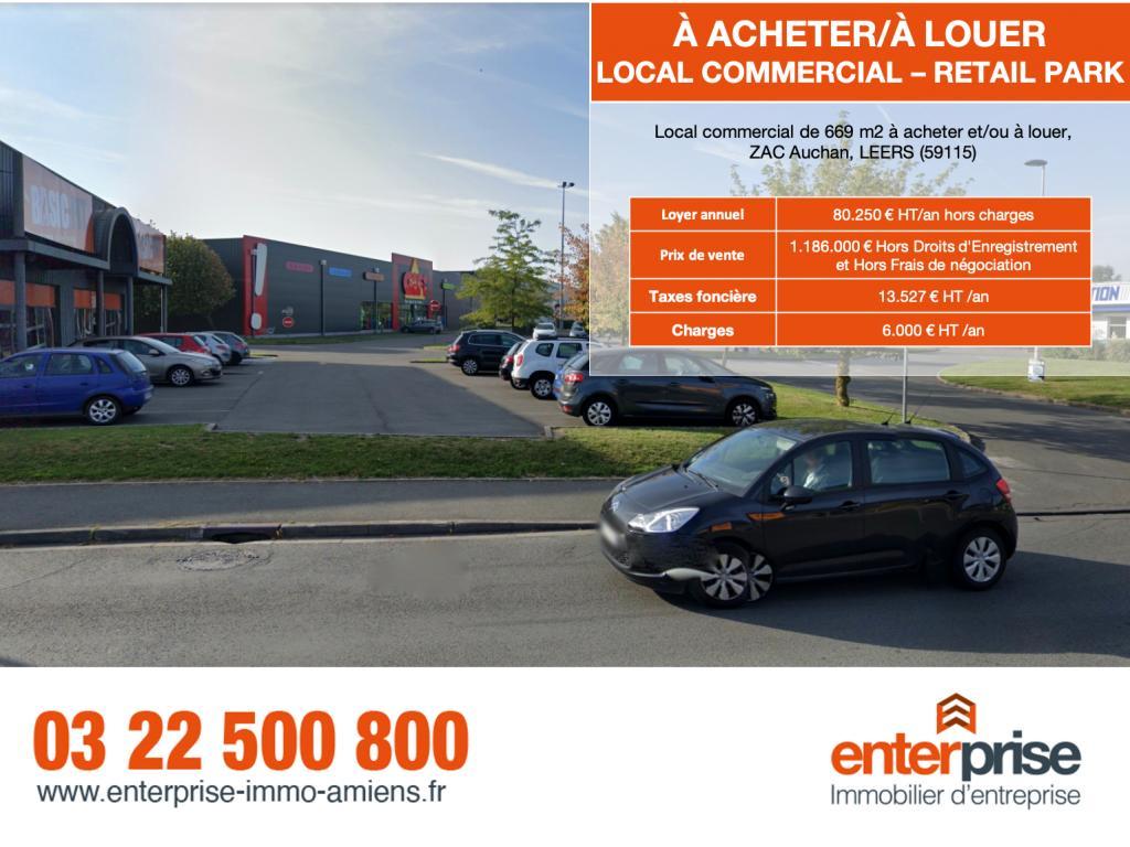 Vente Local commercial LYS-LEZ-LANNOY  756