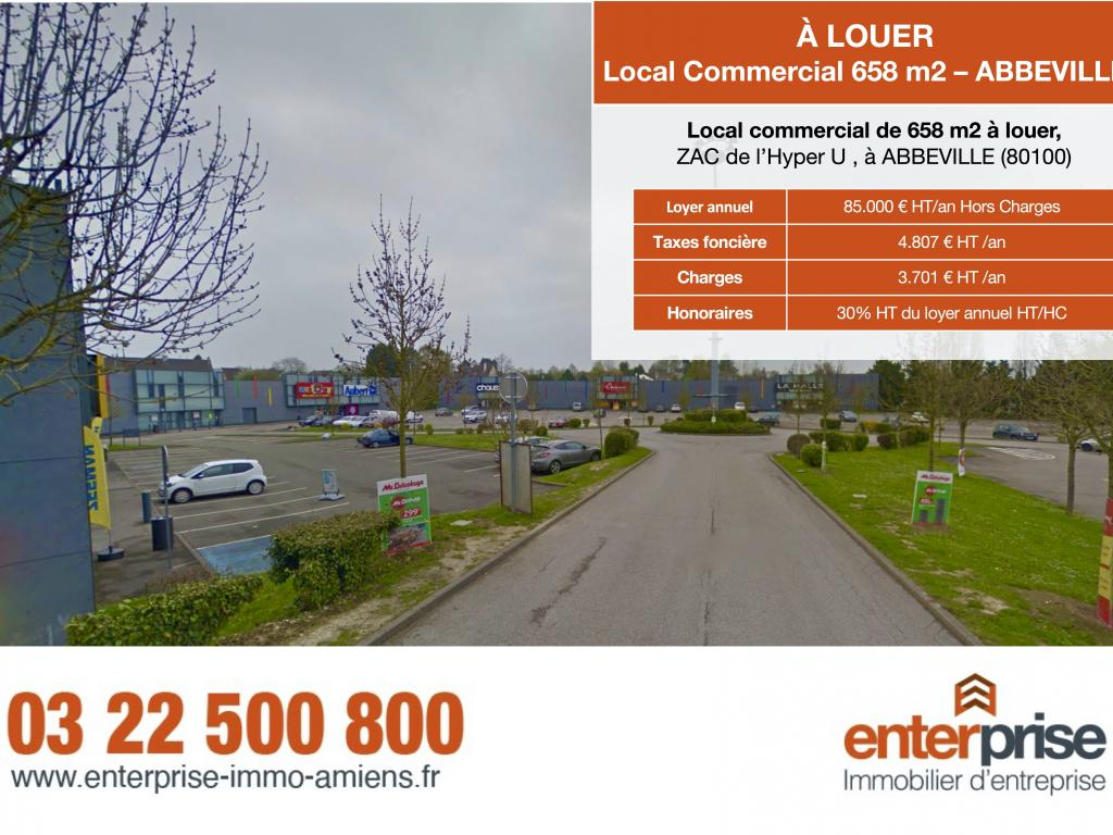 Location Local commercial ABBEVILLE  10 855