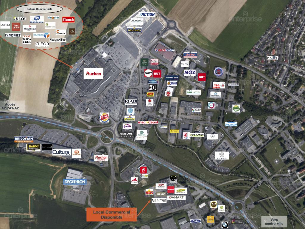 Location Local commercial SAINT QUENTIN  595