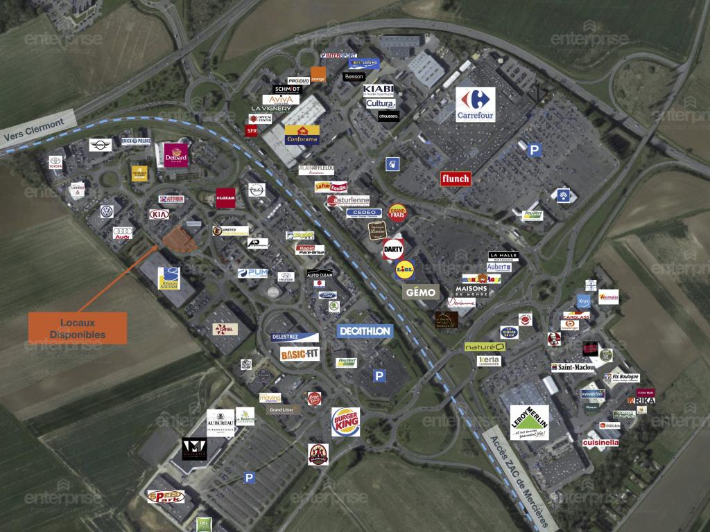 Location Commerce JAUX  10 835